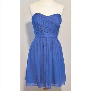 J crew Arabelle royal blue silk cocktail dress